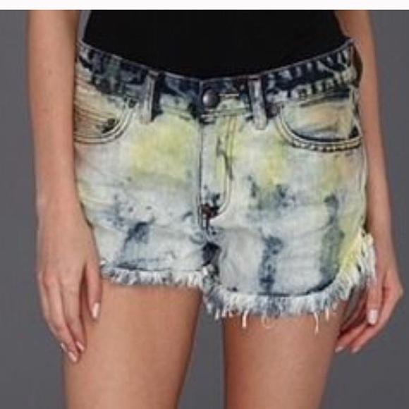 Free People Pants - Free People Tie Dye Jean Shorts